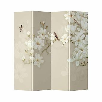 Fine Asianliving Room Divider Privacy Screen 4 Panneaux W160xH180cm Fleur Beige