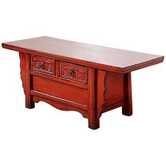 Hieno aasialainen antiikkinen kiinalainen kaappi punainen kiiltävä W101xD39xH40cm