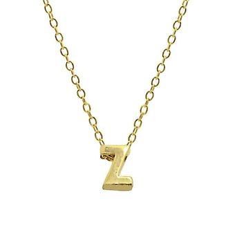 Sterling Silver Letter Round Choker Necklace, Minimalist Fine Jewelry(GOLD Z)