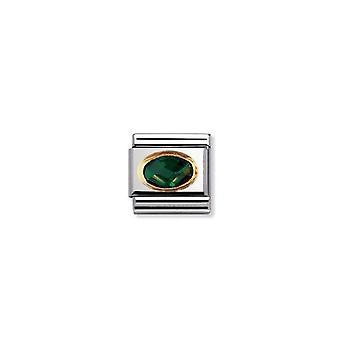 Nomination italie lien composable pierre à facettes vert foncé 030601_027