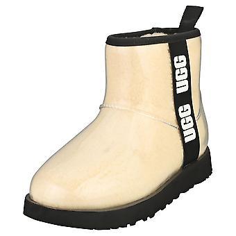 UGG الكلاسيكية واضحة ميني المرأة الأحذية الكلاسيكية في الأسود الطبيعي