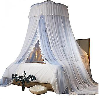 Ceiling Mosquito Net Princess Children's Bed Curtain Free Installation(Color3)