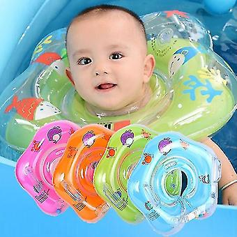 Baby Schwimmen HalsRing Sicherheit Infant Float Kreis zum Baden Aufblasbarer Wasserkreis (Grün)