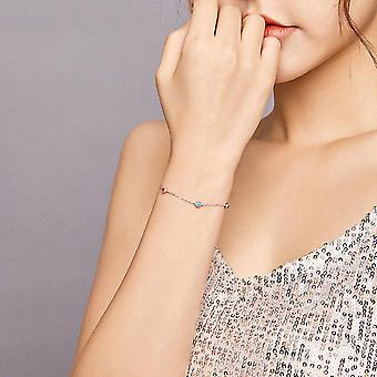 Silver plating Colorful Summer Bracelets Fine Jewelry Gifts for Girl