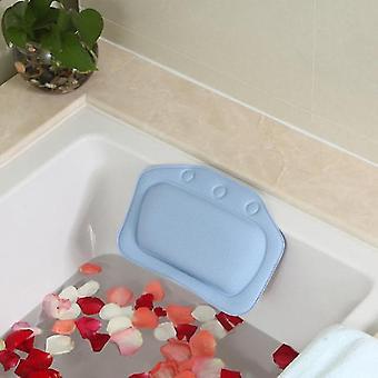 Luxury Home Bath Spa Pillow - Deep Spongy Cushion Relaxing Massage Big Suction