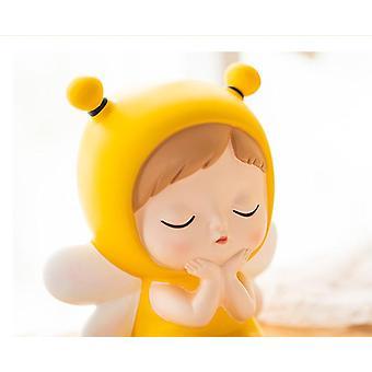 חמוד דבורה מודל קופת חיסכון לילדים פסל בית דקור מטבע בנק כסף בחורה תיבת חיסכון יפה