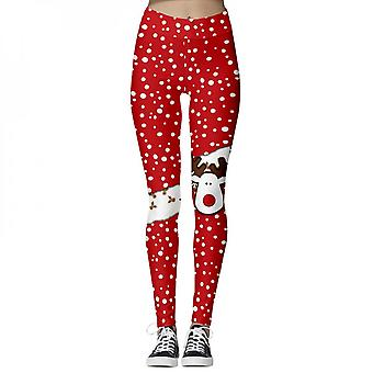 Women Slimming Stretch Printed Pants Casual Jegging Trousers Leggings High Waist