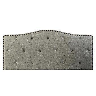 Headboard DKD Home Decor Grey Polyester Rubber wood (160 x 6 x 68 cm)