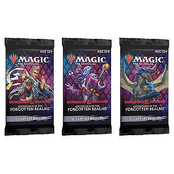 Magic The Gathering - Unohdetut maa-automaatit SET 3-Pack Booster Pack