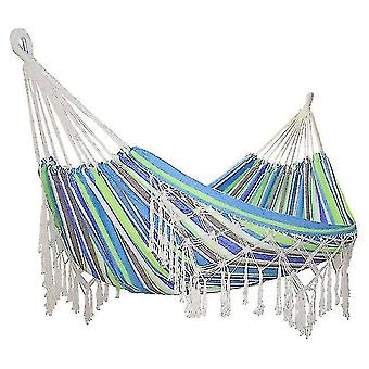 Hammocks double outdoor camping indoor leisure hanging chair tassel hammock swing hammock outdoor furniture