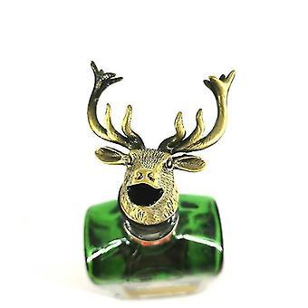 Scandinavische stijl zinklegering dierlijke thema wijn stop en pourer (Golden Deer)