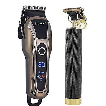 Profesjonalny fryzjer maszynka do strzyżenia włosów usb elektryczny trymer do włosów t-outliner cięcie trymera do brody Golarka