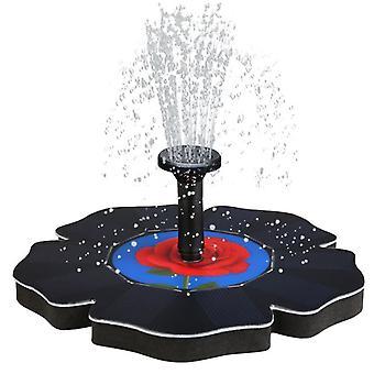 Pompe solaire rose, fontaine de bain d'oiseau étang flottant eau jardin décoration de cour noir