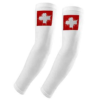 Suisse Abstract Flag Pattern Arm Cover