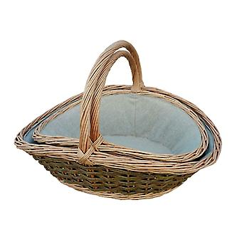 Set of 2 Gathering Garden Trug Basket