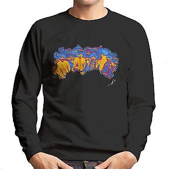Pink Floyd Ruskin Park schießen Floral blau 1967 Herren Sweatshirt