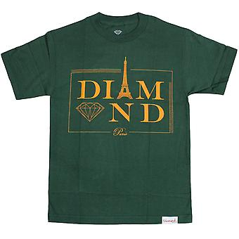 Diamond Supply Co Paris T-shirt Hunter Green