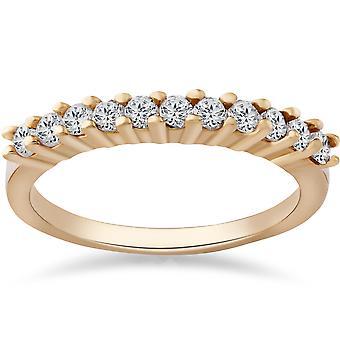 1/2ct Diamond Wedding Ring 14K Yellow Gold Anniversary