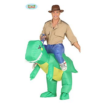 Dino carry costume rider Dino costume inflatable with motor piggyback costume