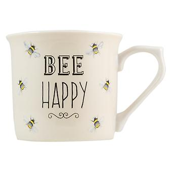 English Tableware Co. Bee Happy Mug, Cream