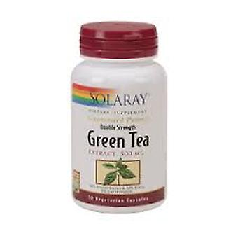Solaray Green Tea Double Strength, 60 comprimidos