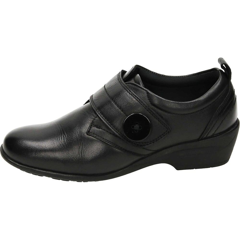 Dr Keller Black Leather Smart Comfy Shoes