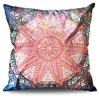 Round Ornament Linen Cushion 30cm x 30cm | Wellcoda