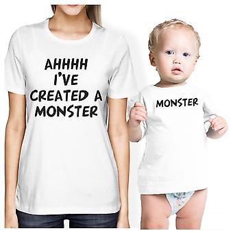 Создал монстра мама и Baby соответствующий подарок рубашки для будущих мам