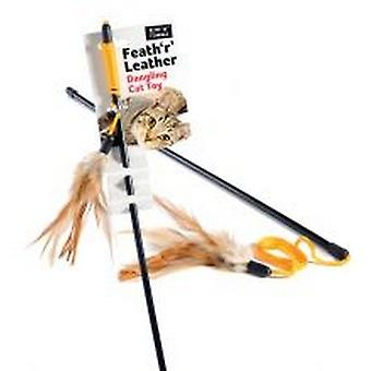 Sharples Ruff ´N´ Tumble Feath ´R´ Leather Cat Toy