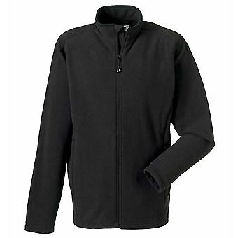 Russell Collection Full Zip Fitted Mens Microfleece Jacket Black,Navy XS