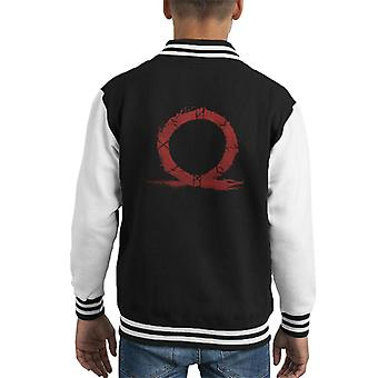 God Of War Omega Symbol Kid's Varsity Jacket