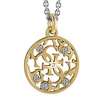 Guess dames ketting ketting edelstaal bicolor goud zilveren UBN71519