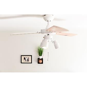 Ceiling fan Cyrus White with lights 107cm / 42