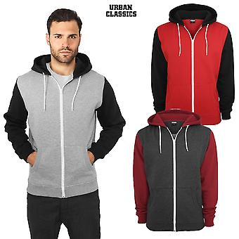 Urban classics Zip Hoodie relaxed 3-tone