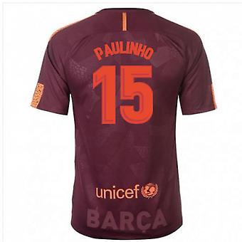 2017-18 Barcelona Nike Third Shirt (Paulinho 15) - Kids