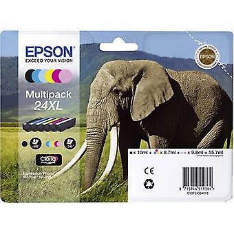 Epson inkt T2438, 24XL originele Set Black, cyaan, Magenta, geel, licht cyaan, licht magenta C13T24384011