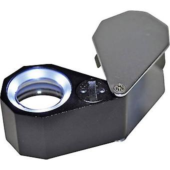 RONA 450777 Jewellers eyeglass incl. LED lighting Magnification: 10 x Lens size: (Ø) 21 mm