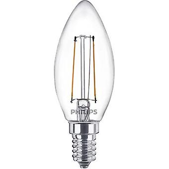 Philips Lighting LED EEC A++ (A++ - E) E14 Candle 2 W = 25 W Warm white (Ø x L) 35 mm x 97 mm Filament 1 pc(s)