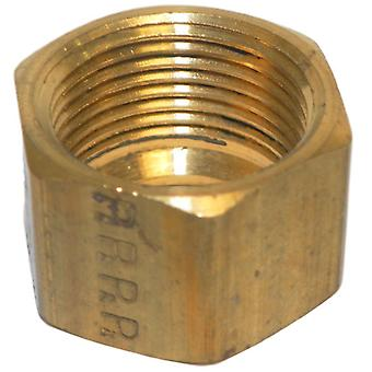 Big A Service Line 3-16190 5/8 Inch Tube End, Brass Compression Nut