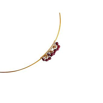 Collana con collana di rubini LALE catena con ciondolo oro placcato