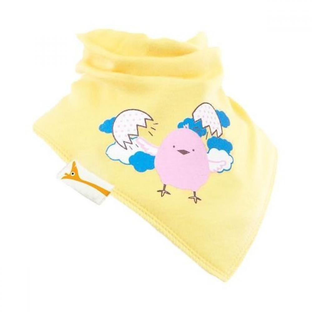 Yellow chick freedom bandana bib