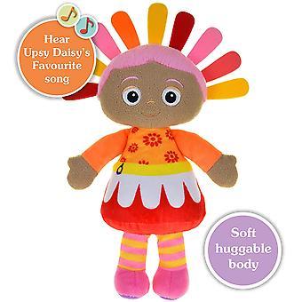No jardim de noite cantando Snuggly Upsy Daisy brinquedo macio