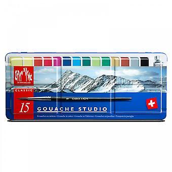Caran D'Ache Classic Gouache Paint - 15 Set