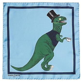 Simon Carter T-Rex Toff Pocket Square - Blue