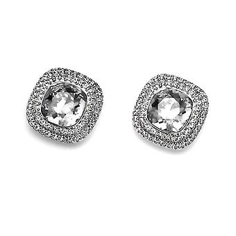 Oliver Weber Post Earring Autentic Rhodium Crystal