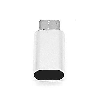 8 pin Kadın Dan C Tipi Erkek USB Adaptörü-Gümüş
