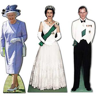 Ultimate Diamond Jubilee Lifesize Cardboard Cutout / Standee  Set (Queen Elizabeth 1953 - 2012 and Prince Philip)