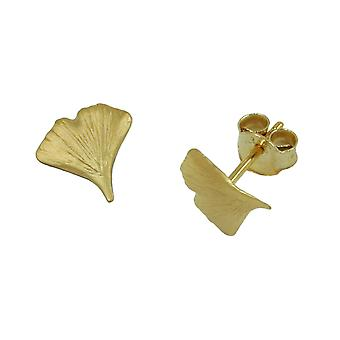 Ginko studs Golden Earring GINKGO leaf Ginkgo plug 9 mm 9 KT gold 375