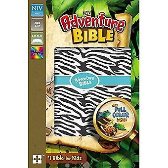 NIV aventure Bible, simili cuir, zèbre, couleur intérieure