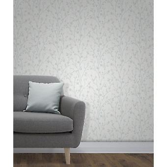 Elegant Twiggy Sidewall Blue Wallpaper Wall Decoration 0.52m x 10.05m